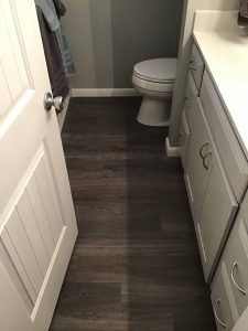 A bathroom flooring contractor in Tulsa