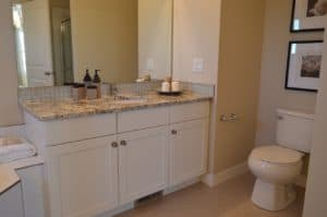 A customized bathroom vanity in Tulsa, OK.